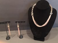 Ladies Jewelry: Necklace and Earring Set:  Rose Gold  Lansdowne