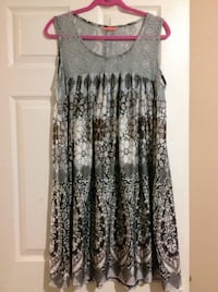 Gray and black floral sleeveless dress Calgary, T1Y 7G7