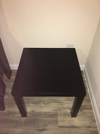 Square black wooden side table Katy, 77493