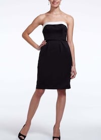 Satin short dress with white back bow size 12