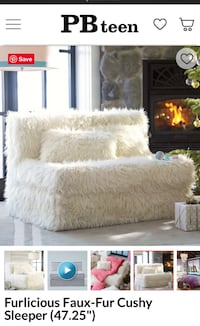 Pottery barn faux fur sleeper $600