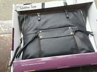 gray and pink leather bag 2391 mi