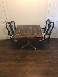 Pallet wood table and 2 chairs Very Unique and Well Made by Me Metairie, 70003