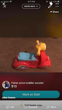 red and blue Fisher-Price scooter screenshot 57 km
