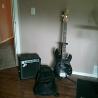 Barracuda electric bass, cherri amp, stand, case Chilliwack, V4Z 1H5