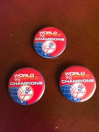 New York Yankees 1998 World Champions Buttons  Farmingdale, 11735