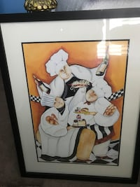Chef Painting with Black Frame Fairfax, 22033