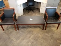 two brown wooden side tables Jacksonville