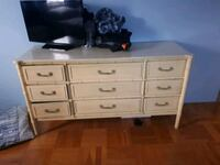 white wooden dresser with mirror Longueuil, J3Y 1W9