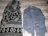black and gray tribal print cardigan Kingston, K7K 5V3