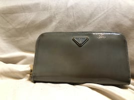 Prada Saffiano Wallet In Baby Blue