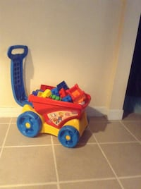 toddler's red and blue ride-on toy Brentwood
