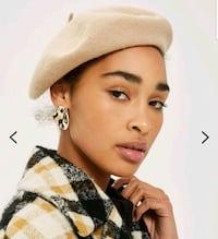 New Camel wool beret