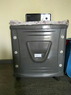 gray plastic side table