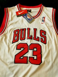 white and red Chicago Bulls 23 jersey Annandale, 22003