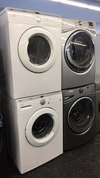 white front-load clothes washer and dryer set Toronto, M3J 1N1
