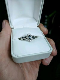 silver and diamond ring in box Falls Church, 22043