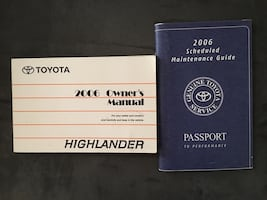 2006 Toyota Highlanders Owners Manuel & maintenance performance guide