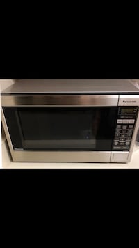silver and black microwave oven Columbia