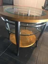 Round glass, wood and metal table   Scottsdale, 85258