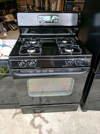 Black GE gas range, dishwasher, and microwave Aldie, 20105