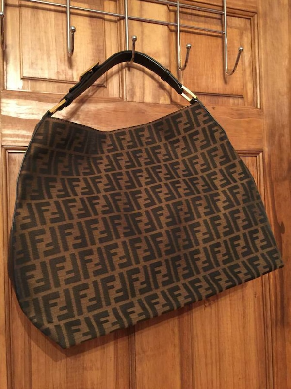 e754c3e52f24 Used brown and black Fendi print monogram hobo bag for sale in New York -  letgo
