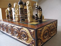 Hand-Carved Wooden Chess Set  TORONTO