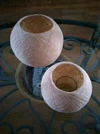 Wicker type candle holders London, N5V