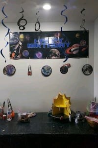 Outerspace bday party Decoration