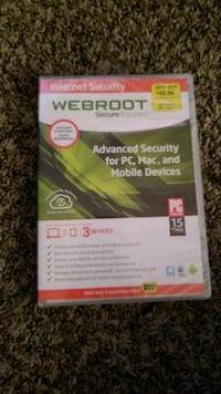 Webroot security 3 devices,  phone, computer, etc