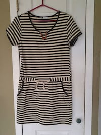 white and black stripe scoop-neck shirt Laval, H7W 2R8