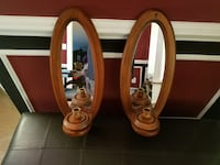 Mirrored wood wall sconces, in perfect shape Burtonsville, 20866