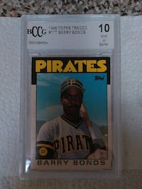 Pirates Barry Bonds collectible card