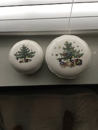 """Nikki Christmastime 4"""" and 5"""" covered candy bowls New Lenox, 60451"""