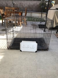 black metal folding dog crate Costa Mesa, 92626