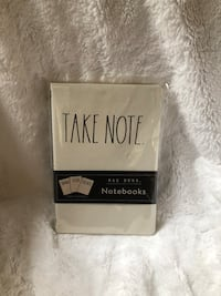 "NWT Rae Dunn ""Take Note, Doodle, Thoughts"" 3 Pack Lined Pages Notebook"