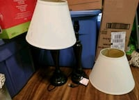 2 black table lamps 2062 mi