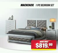 gray and white bed set Hyattsville, 20781
