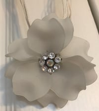 Necklace with White Flower Pendant Toronto, M5R 1C5