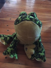 black and green camouflage frog plush toy Langley, V1M 0B6