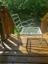 White wrought iron chair w or without cushion