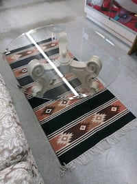 Ceramic base coffee table with beveled glass Albuquerque