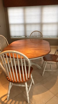 oval brown wooden dining table with four chairs Ashburn, 20147