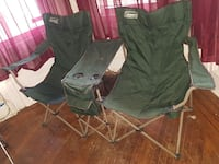 Multiple folding chairs
