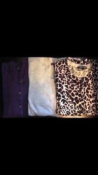 Gap sweater purple size large grey light size Xl and leopard size large cable and gauge brand Toronto, M6L 1R7