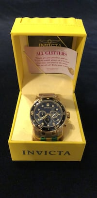 invicta men's 0072 pro diver collection chronograph 18k gold-plated Lorton, 22079