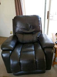 BROWN leather all electric theater Recliners