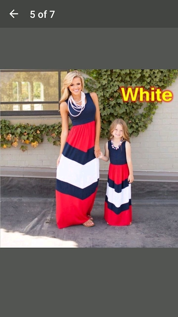 Mom and kids dress(take order any size)