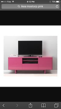 Pink ikea tv stand Port Coquitlam, V3C 6K7
