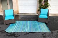 Set of 2 Patio Chairs and Rug San Marcos, 92096